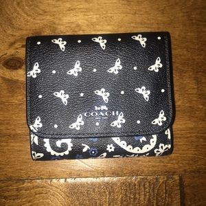 Coach Butterfly Bandana Small Trifold Wallet